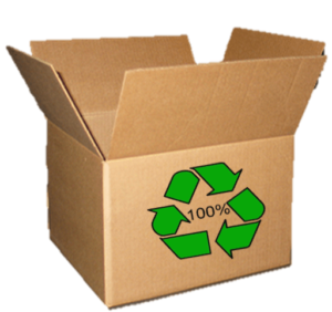 Box with 100% Recycled Content