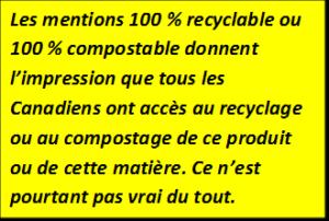 Rien n'est 100 % recyclable ou 100 % compostable
