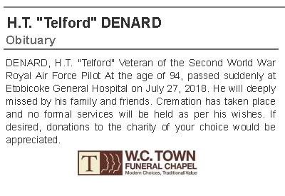 Telford Denard Obituary