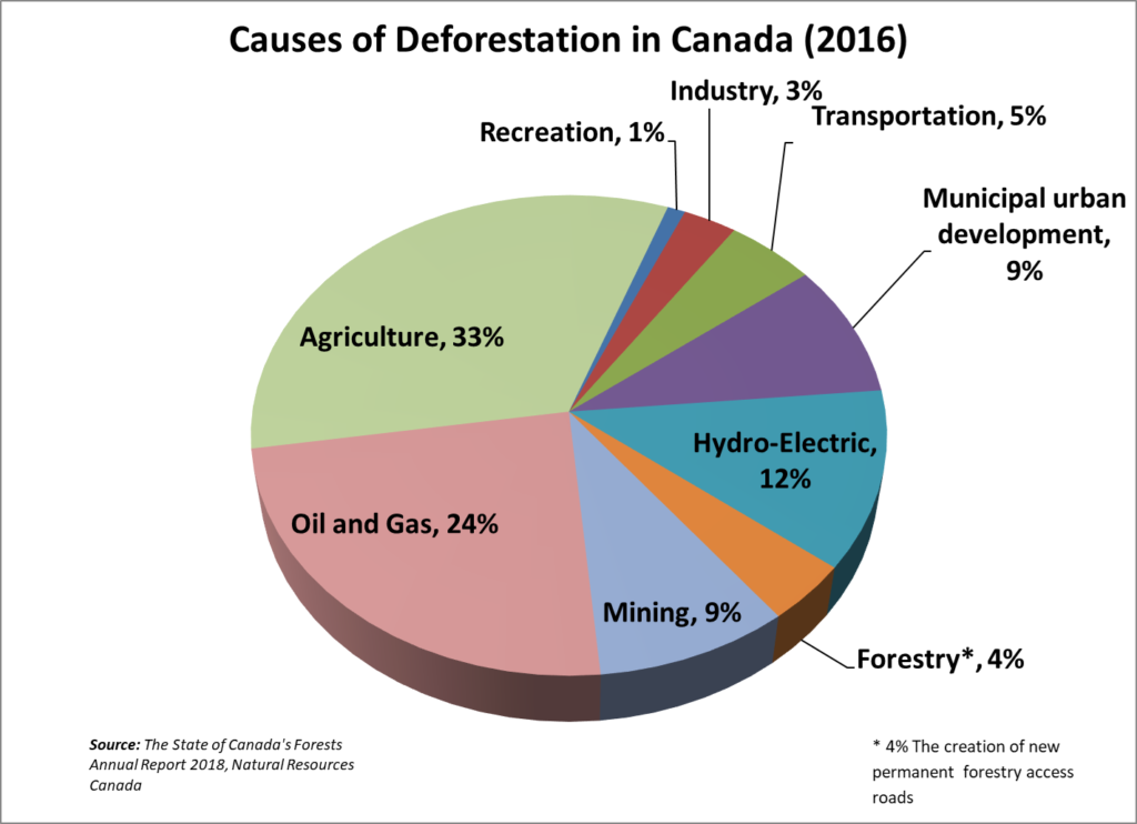 despite false claims and sloppy journalism this chart is shows the real causes of deforestation